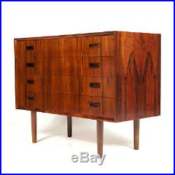 Retro Vintage Danish Modern Rosewood Chest of Drawers Wide Boy Mid Century 1970s