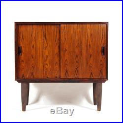 Retro Vintage Danish Modern Rosewood Sideboard Hi-Fi Cabinet 1970s Mid Century