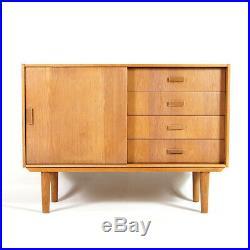 Retro Vintage Danish Oak Sideboard Cabinet 1960s 50s 70s Mid Century Modern
