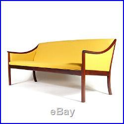 Retro Vintage Danish Ole Wanscher 3 Seat Seater Sofa Mid Century 60s 70s Teak