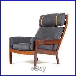 Retro Vintage Danish Rio Rosewood Easy Lounge Chair Armchair Mid Century 50s 60s