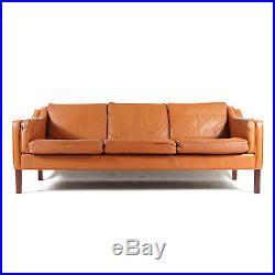 Retro Vintage Danish Rosewood & Leather 3 Seat Seater Sofa 60s Mid Century 1970s