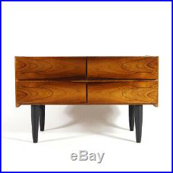Retro Vintage Danish Rosewood Low Chest of Drawers Wide Boy Mid Century 60s 70s