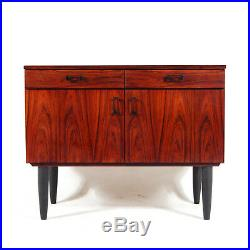 Retro Vintage Danish Rosewood Sideboard Cabinet 70s Mid Century Modern 50s 60s