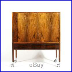 Retro Vintage Danish Rosewood Stereo Cabinet 60s 70s Mid Century Drinks Trolley