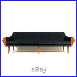 Retro Vintage Danish Teak 4 Seat Seater Sofa 1950s 60s Mid Century Modern 70s