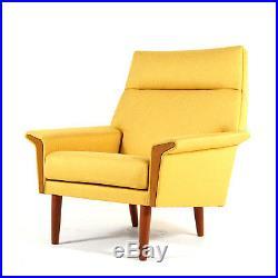Retro Vintage Danish Teak Easy Lounge Chair Armchair Mid Century Design 50s 60s