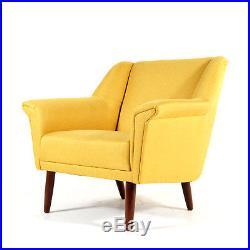 Retro Vintage Danish Teak Easy Lounge Chair Armchair Mid Century Modern 50s 60s