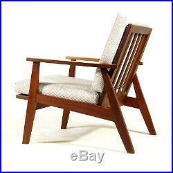 Retro Vintage Danish Teak Easy Lounge Chair Armchair Modern 50s 60s Mid Century