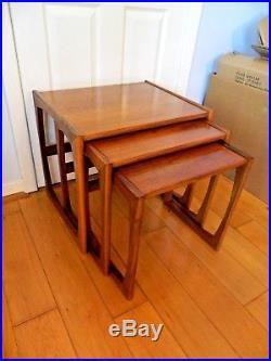 Retro Vintage G PLAN Teak Quadrille Nest Of Tables Retro Mid Century 60's, 70's