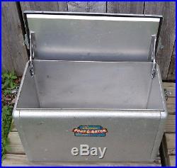 Retro Vintage Mid Century Aluminum Cronco Cronstroms Port-O-Rator Picnic Cooler