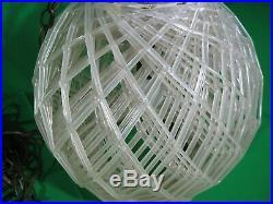 Retro Vintage Mid Century Spaghetti Plastic Acrylic Lucite Hanging Light Lamp