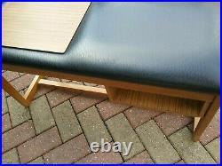 Retro/ Vintage/ Mid Century Teak Telephone Table Black top