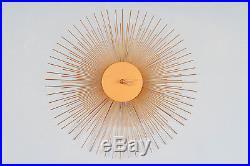 Retro Vintage Mid Century Urchin Sunburst Wall Clock