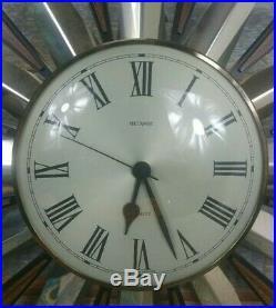 Retro Vintage Sunburst/Starburst Metamec Clock, 60s, Mid Century 61cm Diameter