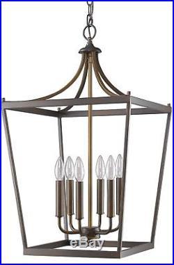 Rustic Bronze Iron Mid Century Vintage Retro Lantern Pendant Light 16W IN11134