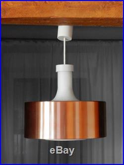STAFF vintage lamp 70's light copper metal white glass retro Mid-Century design