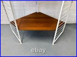 STUNNING Ladderax Staples Teak Shelving Bookcase Vintage Retro Mid Century Heals