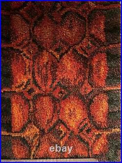 Scandinavian Midcentury Modern Vintage Rya Rug