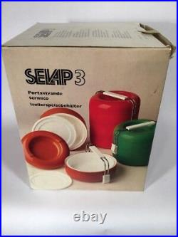 Selap MCM Vintage Red Picnic Set A. Boghetich 70s Mid Century Modern Made Italy