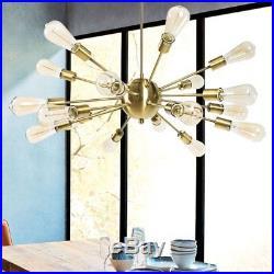 Sputnik Chandelier 12/18 Light Mid-Century Industrial Retro Vintage Mental New