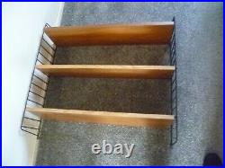 String Ladderax Style Wall Shelving System 1950s Mid Century Vintage