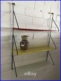 TOMADO Vintage Industrial Retro Shelving wall shelves mid century yellow