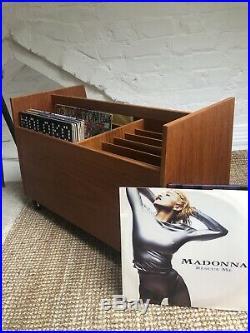 Teak Vinyl Storage Cabinet Danish G Plan Mid Century Record Vinyl