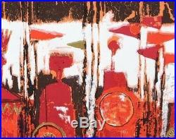 Tibor Reich fabric vtg retro 50s midcentury textile Age of Kings DIY art 1964