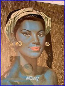 Tretchikoff Very Rare Balinese Dancer Mid Century 1960s Retro