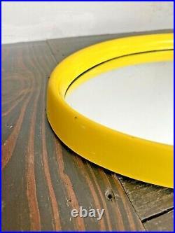 Turner Vtg Mid Century Retro Modern Oval Plastic Space Age Op Art Mirror Kartell