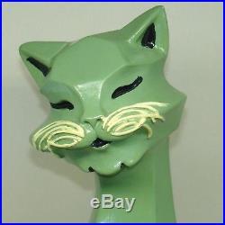 Universal Statuary Vintage Green Cat 5650R Mid Century Modern 1961 Retro Cubist
