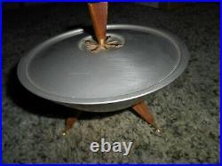 VINTAGE 1950s MCM Mirro Medallion Aluminum Atomic Candy Dish