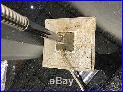 VINTAGE 50s 60s METAL DESK / SIDE TABLE LAMP retro industrial mid-century light