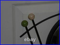 VINTAGE AUTHENTIC 1950s MID CENTURY ATOMIC CIRCULAR ROUND WALL MIRROR