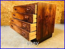 VINTAGE DANISH MID CENTURY ROSEWOOD CHEST OF DRAWERS 1960s (1)