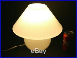 VINTAGE MID CENTURY 60s/70s ORIGINAL GLASS Murano Venini ITALIAN MUSHROOM LAMP