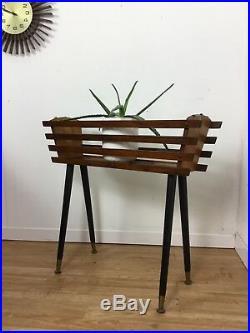 VINTAGE MID CENTURY MODERN 1950/60s TEAK ASTRO PLANTER PLANT RETRO DANISH GPLAN