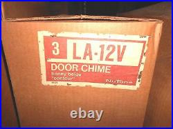 VINTAGE Mid Century CONTOUR NuTone DOOR Bell CHIME LA-12V NEW 2 Notes Front NOS