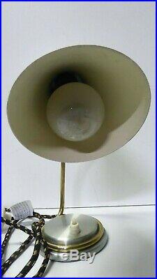 VINTAGE RETRO 1960s MID CENTURY ANODISED DESK TABLE LAMP
