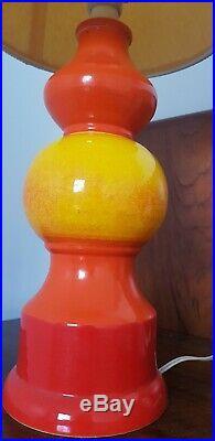 VINTAGE RETRO ITALY orb ball table lamp Mid Century space bitossi era Baldelli
