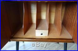 VINTAGE RETRO MIDCENTURY OAK RECORD VINYL CABINET CUPBOARD DANSETTE CLASSIC 60s