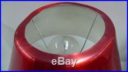 VINTAGE RETRO RED ANODISED 1950s TABLE LAMP MID CENTURY BAKELITE FITTINGS