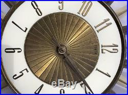 VINTAGE Retro ELGIN Mid-Century Sunburst Starburst Clock not working