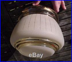 VINTAGE SHADE Retro Clear Frosted Glass Mid Century Pendant Ceiling Light Shade