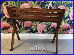 VINTAGE planter plant trough stand retro 1970's 1960's mid century wood wooden