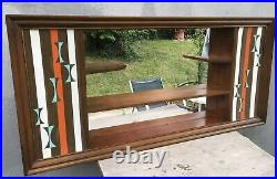 VTG 1960s Turner Wall Accessory Mid Century Mirror Shadow Box Shelf MCM
