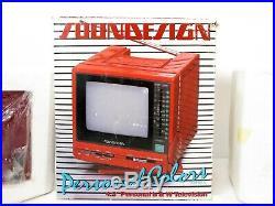 VTG 1986 Retro SOUNDESIGN RED PORTABLE TV Mid Century SPACE AGE PLASTIC Pop Art