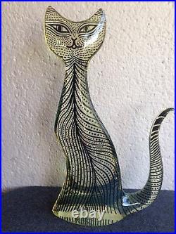 VTG 60s Abraham Palatnik Large 16 Tall Lucite Op Art Mid Century Cat Sculpture