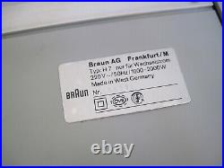 VTG 60s BRAUN TABLE FAN HEATER H 7 4517 Germany Mid Century Weiss Dieter Rams H7